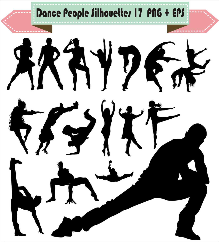 Dance People Rap Hip Hop Balet Break Breakdance Pack Silhouette ...