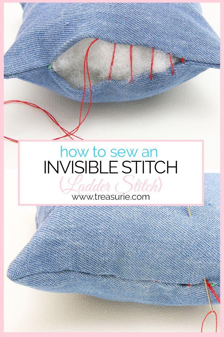 INVISIBLE STITCH - Ladder Stitch/Slip Stitch Tutorial | TREASURIE