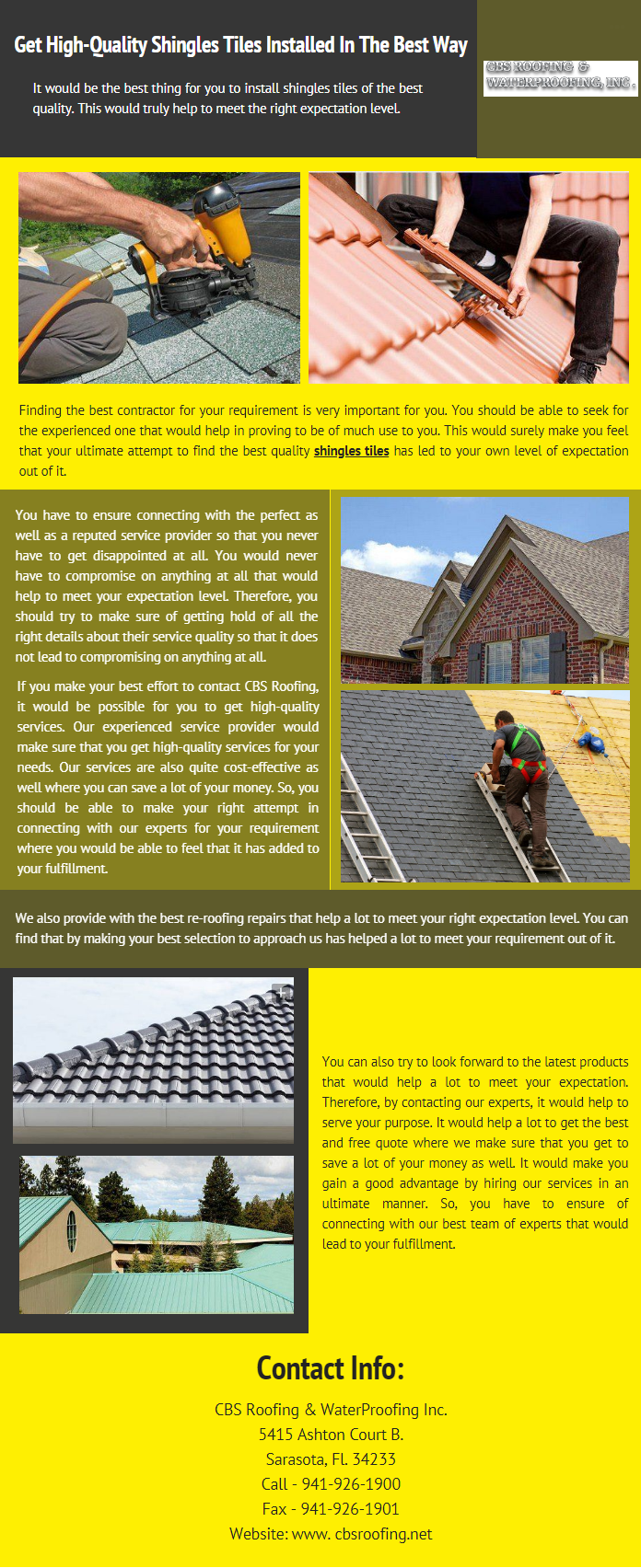 Get High Quality Shingles Tiles Installed In The Best Way Shingling Roofing Services Roofing Systems