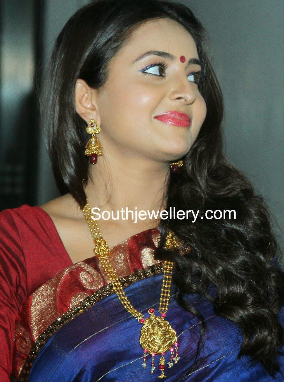 Suhasini in gundla haram jewellery designs - Gundla Haram Latest