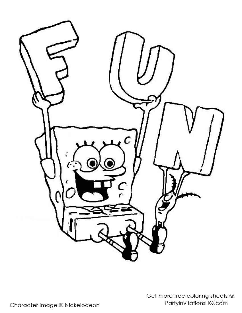 Pin By Livbojen Forskola On Sponge Bob Square Pants Coloring Pages Birthday Coloring Pages Kids Printable Coloring Pages Cartoon Coloring Pages