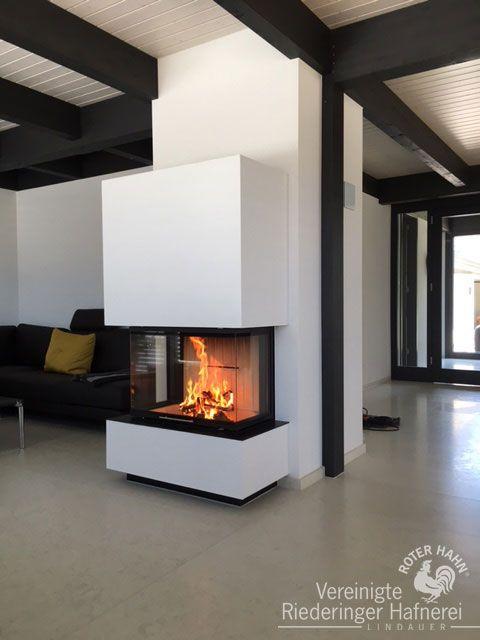 Photo of Panoramakamin mit breiter eleganter Scheibe #Panoramakamin #Kamin #Ofen #Archite …