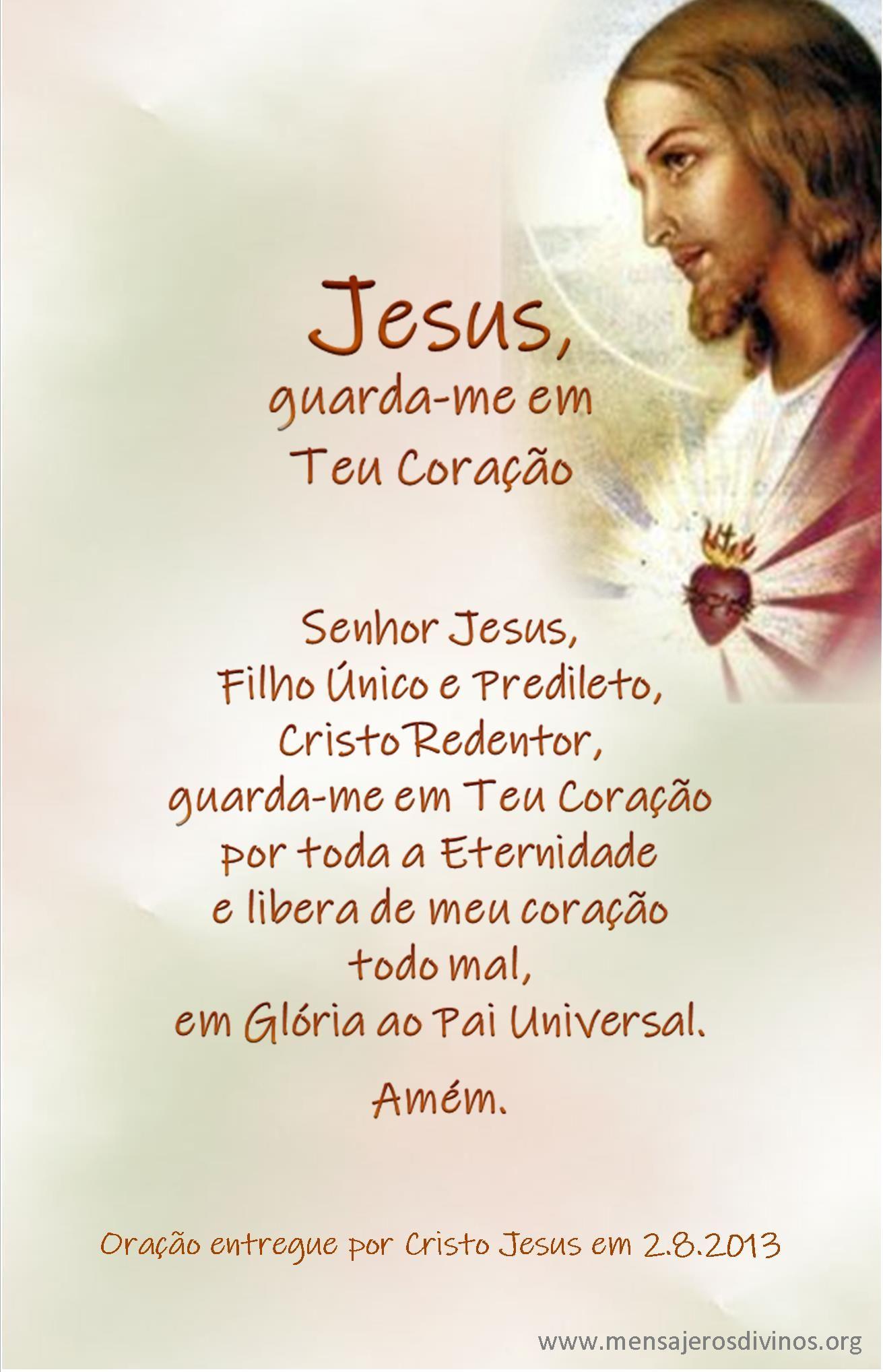 Jesus Guarda Me Em Teu Coracao Mensagens De Oracao Confianca
