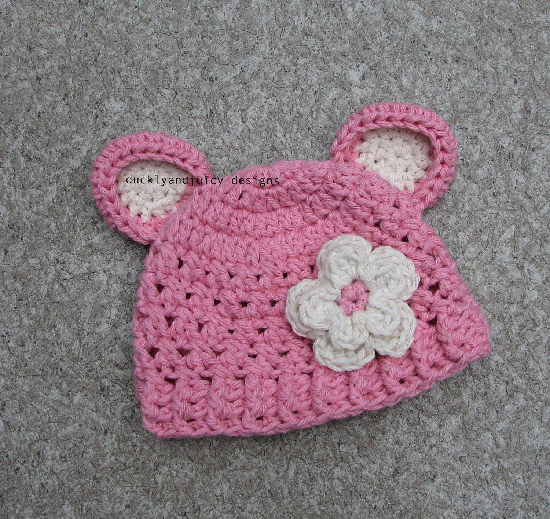 Crochet Baby Hat - Baby Girl Hat | Gorros | Pinterest