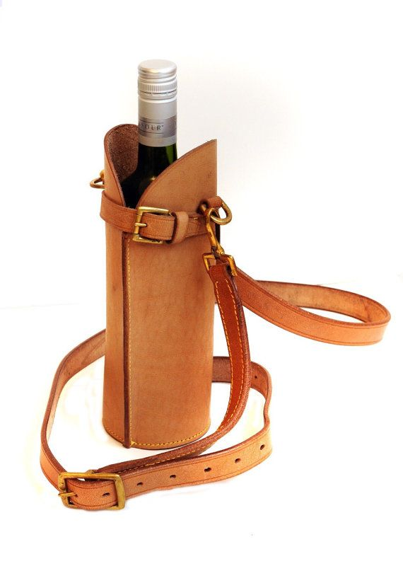 Leather Wine Bottle Carrier By Timssatchels On Etsy Leather Wine Carrier Wine Bag Wine Bottle Carrier