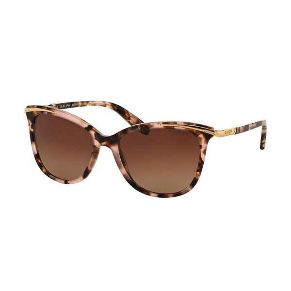 be36a61902eb The Ralph by Ralph Lauren Women s RA5203 Pink Plastic Cat Eye Polarized  Sunglasses was designed to