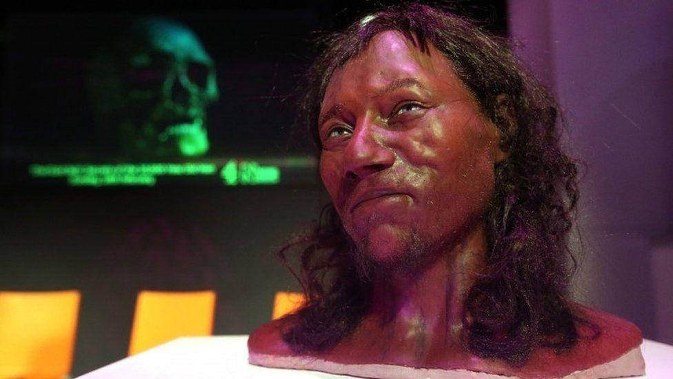 Early Briton Had Dark Skin And Blue Eyes Dark Skin Face Blue Eyes