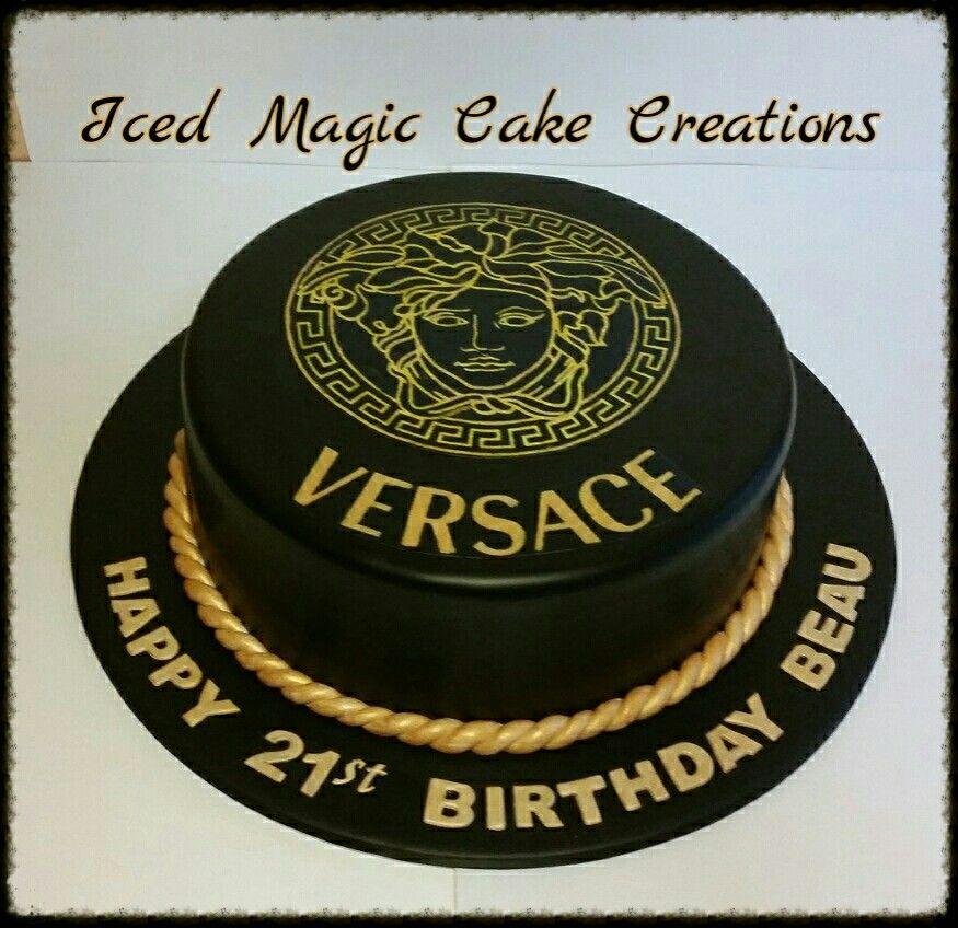 Versace 21st Birthday Cake Facebookicedmagiccreations
