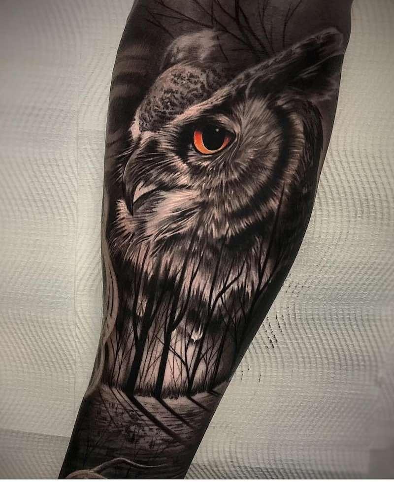 Owl Tattoos | Owl eye tattoo, Owl tattoo, Owl tattoo design