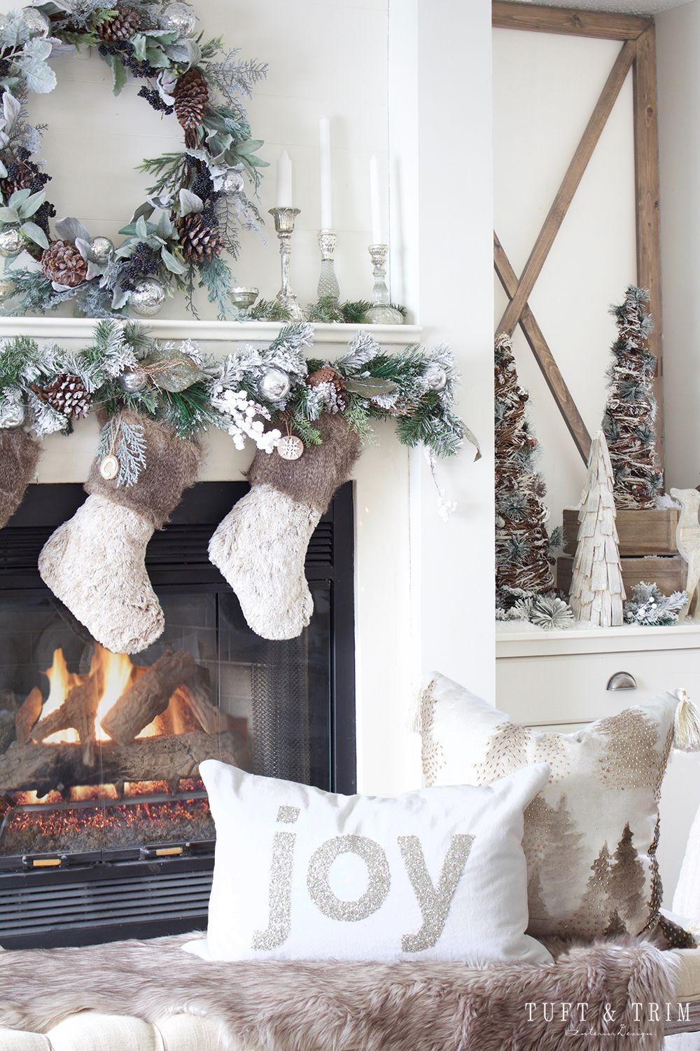 Holiday Tour Part 1: Rustic Chic Christmas Decor   Tuft ...