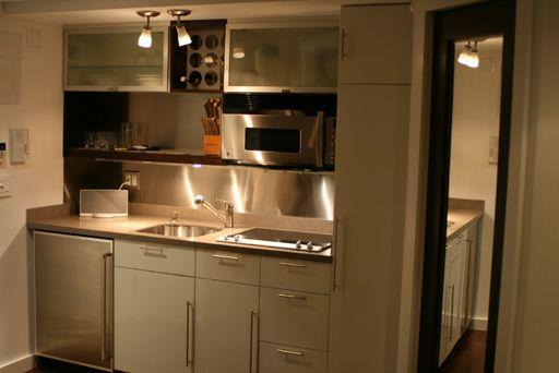 Studio Apartment Kitchenette 396 bleecker street, studio apartment, tiny compact kitchen, nyc