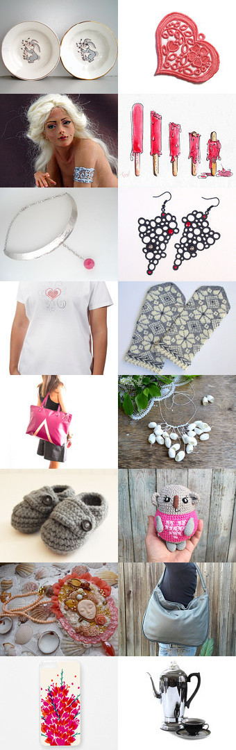 Pink Brushstrokes by Laura P. on Etsy--Pinned with TreasuryPin.com