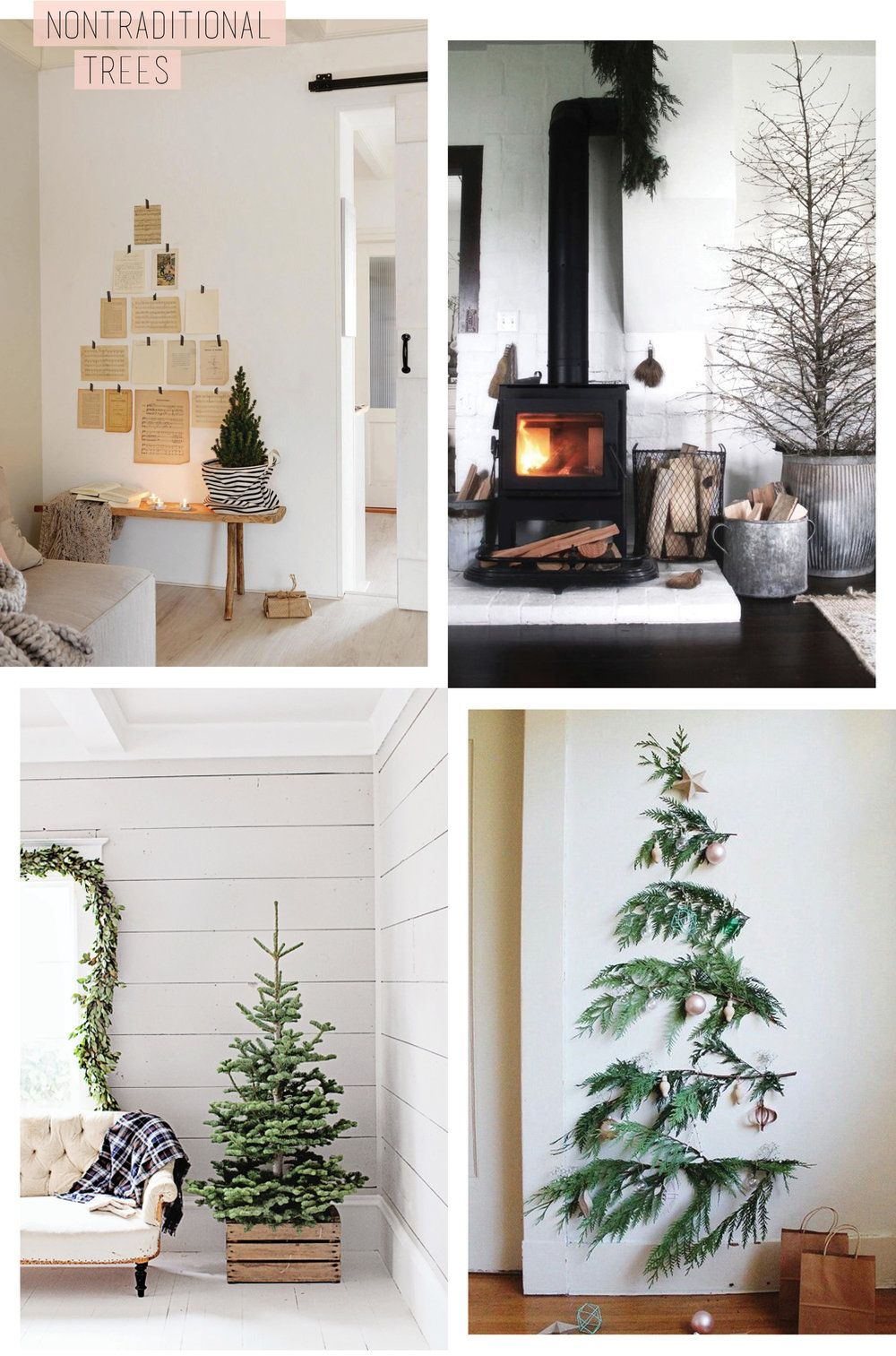 Non Traditional Christmas Tree Ideas.Re Pinned Non Traditional Christmas Christmas Decor Gift
