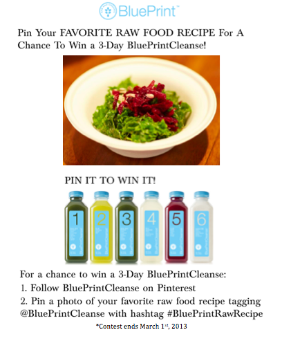 Blueprintrawrecipe giveaway contest blueprintcleanse things blueprintrawrecipe giveaway contest blueprintcleanse malvernweather Images