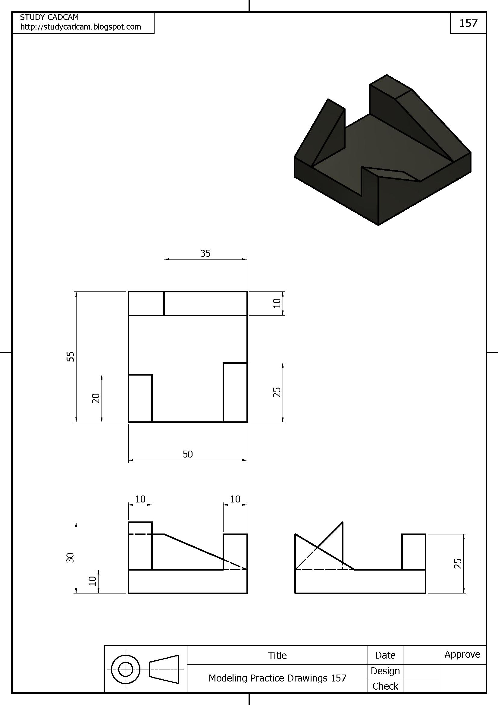 Vistas Y Desarrollo 3d Ejercicios De Dibujo Tecnicas De Dibujo Vistas Dibujo Tecnico