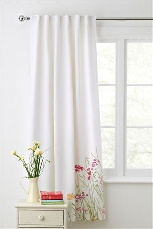 Meadow Embroidery Hidden Tab Top Curtains From The Next Uk