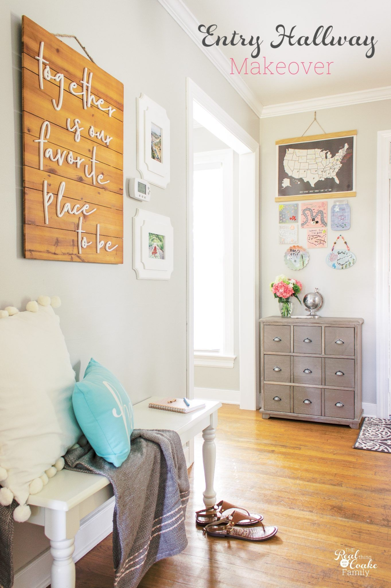 My Hallway Makeover And Entryway Ideas Real Diy Home