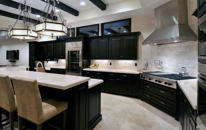 35 Luxury Kitchens With Dark Cabinets Design Ideas Dark Kitchen Cabinets Kitchen Design Ideas Dark Cabinets Luxury Kitchens
