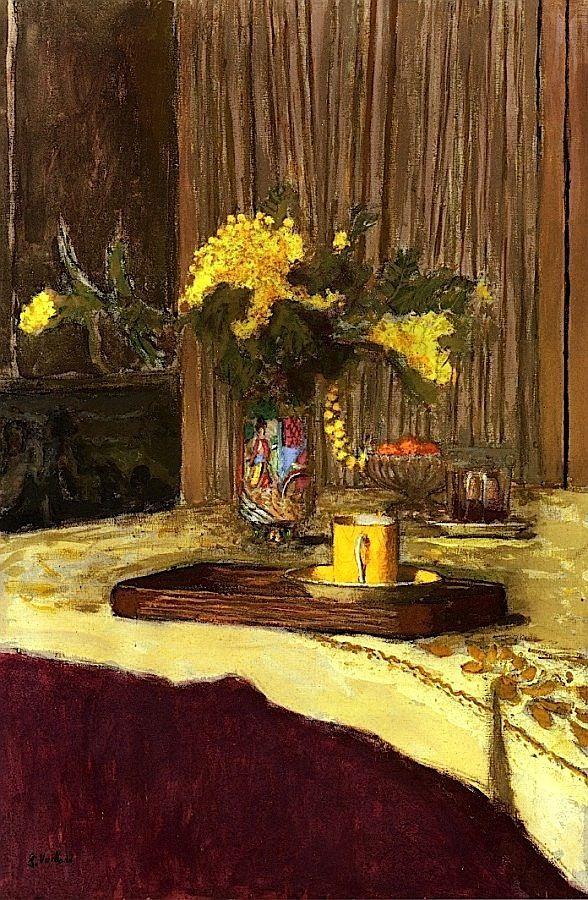 Edouard Vuillard - Bouquet of Mimosa on a Table