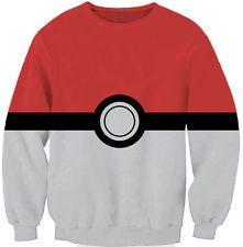 Pokemon Pulli Motiv: Pokeball Größe: Xl, allerdings fällt sehr klein aus