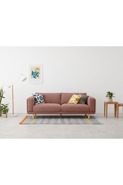 Karson 3 Sitzer Sofa Rosa In 2020 3 Sitzer Sofa Sofa Sitzkissen