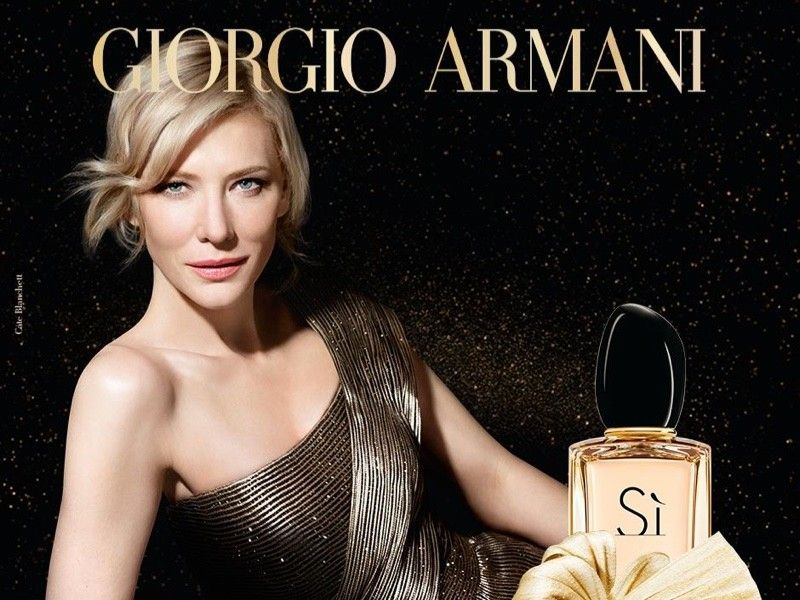 Cate Blanchett Shines Like Gold in New Armani 'Si' Ad | Armani beauty,  Armani si, Giorgio armani beauty