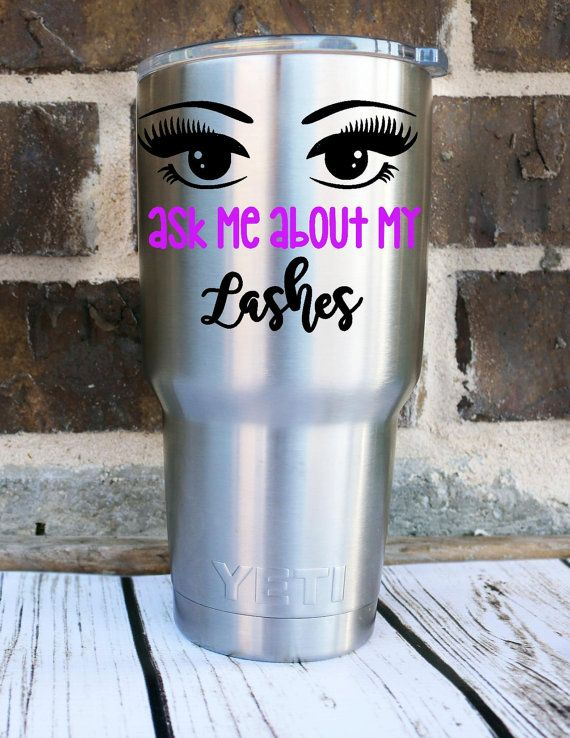 Ask Me About My Lashes Decal, Lash Boss Decal, Lash Lady, Eyelash Extension, Mascara Seller, Custom Decal