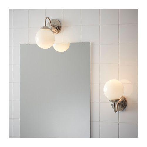 Wall Lamp Lillholmen Nickel Plated White Farmhouse Reno