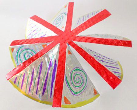 Decorated windmill blades.
