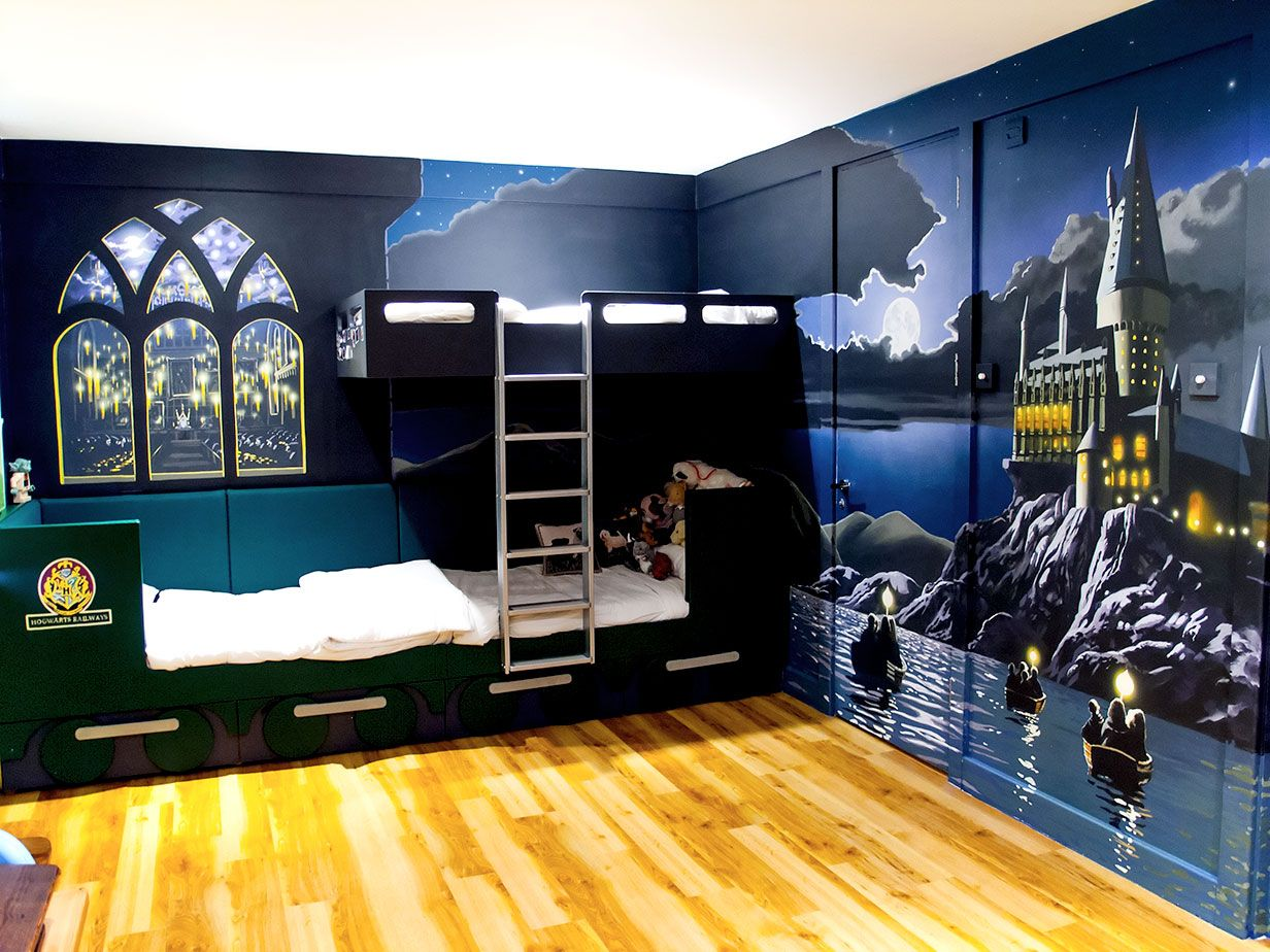 harry potter painted furniture | Harry Potter Mural | Harry ...