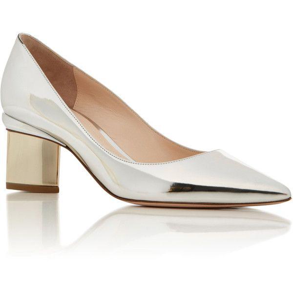 Nicholas Kirkwood     Prism Metallic Pump (17 070 UAH) via Polyvore featuring shoes, pumps, silver, low heel shoes, silver metallic pumps, silver shoes, silver low heel pumps и silver pumps