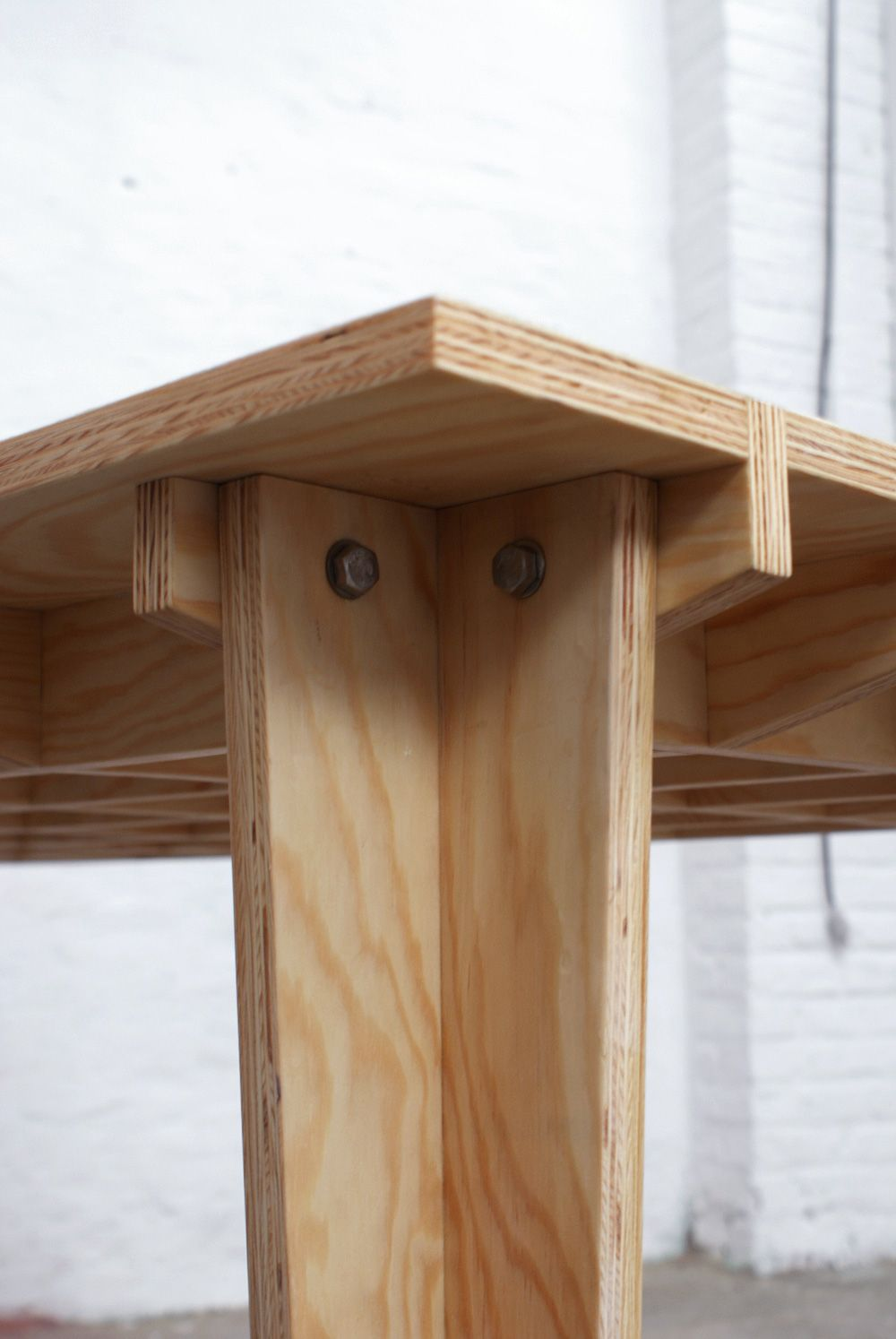 Boarded floor table by steven schreurs and thomas for Diy plywood dresser