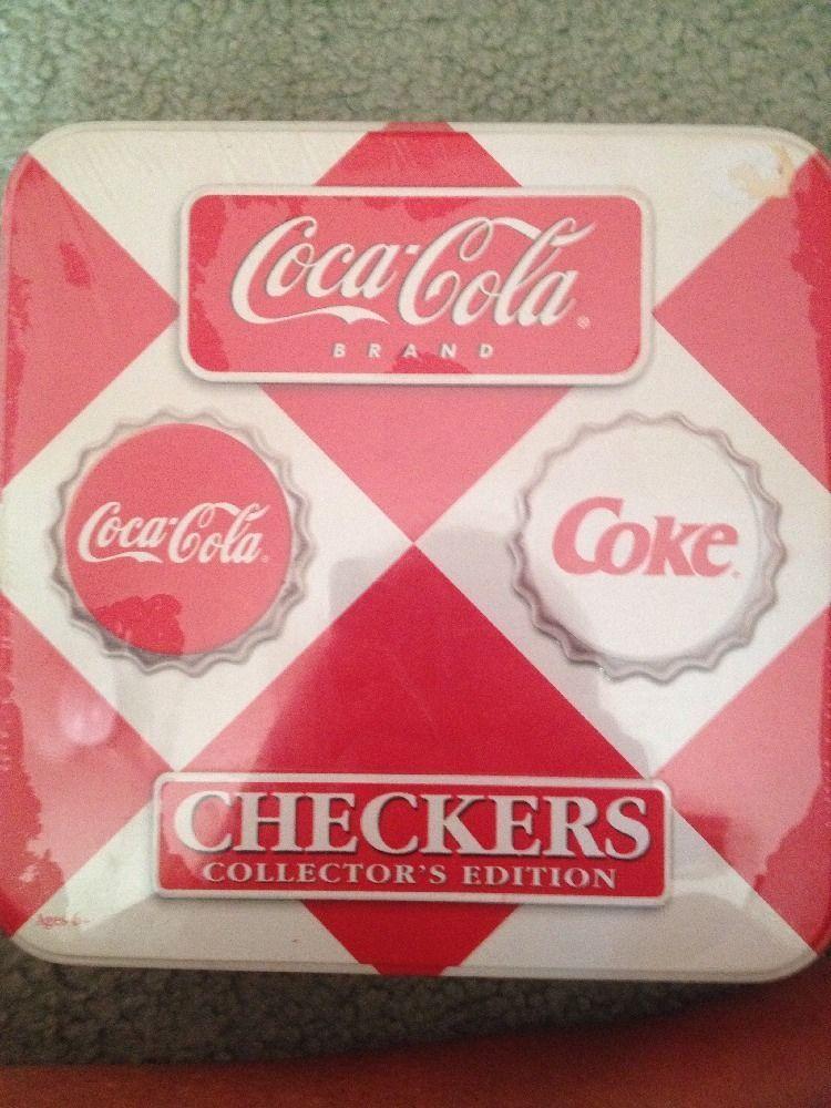 COCA COLA CHECKERS COLLECTERS EDITION IN TIN - COKE
