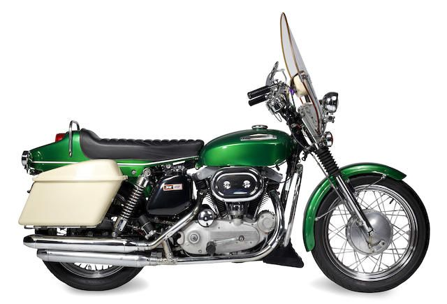 With rare seat option, saddlebags and long-distance gas tank,1970 ...