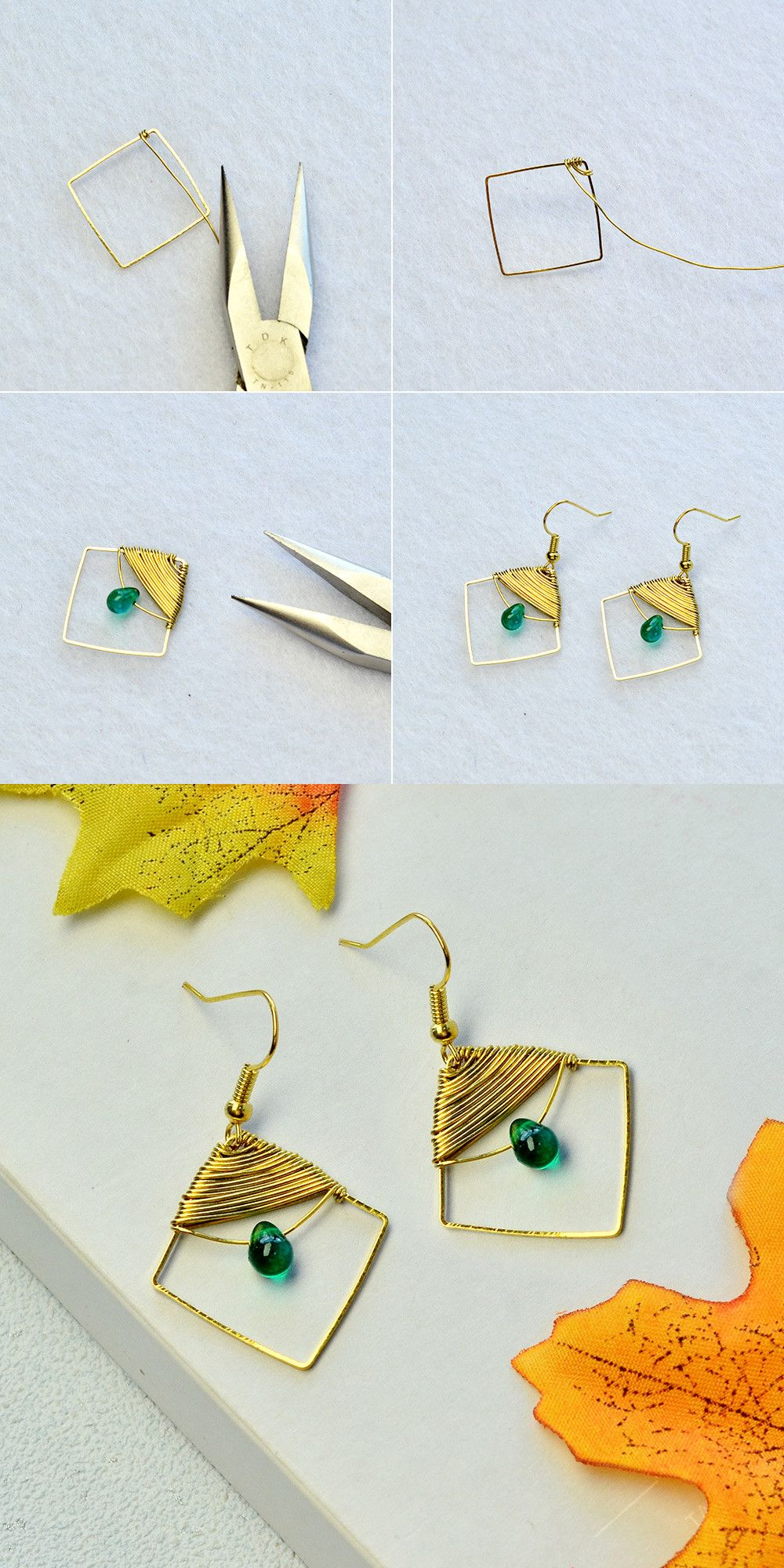 Photo of Learn how to make #wire wrapped #earrings from #Beebeecraft