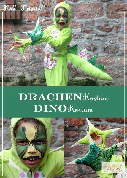 Drachenschwanz und Dinokrallen - gratis Schnittmuster | Dinosaurier ...