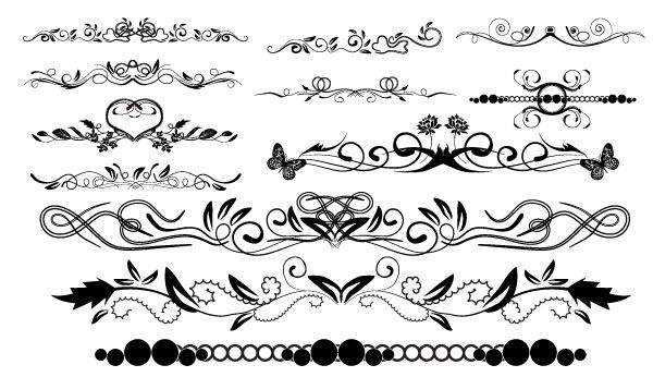 Massive Collection Of Vintage Vector Graphics Floral Borders Corners And Frames Tuts Design Illustration Arti Floral Border Vector Border Free Clip Art