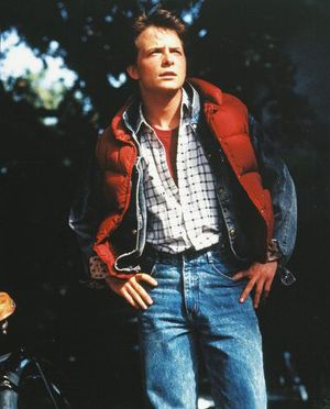 Marty Mcfly Michael J Fox Back To The Future Because He Was