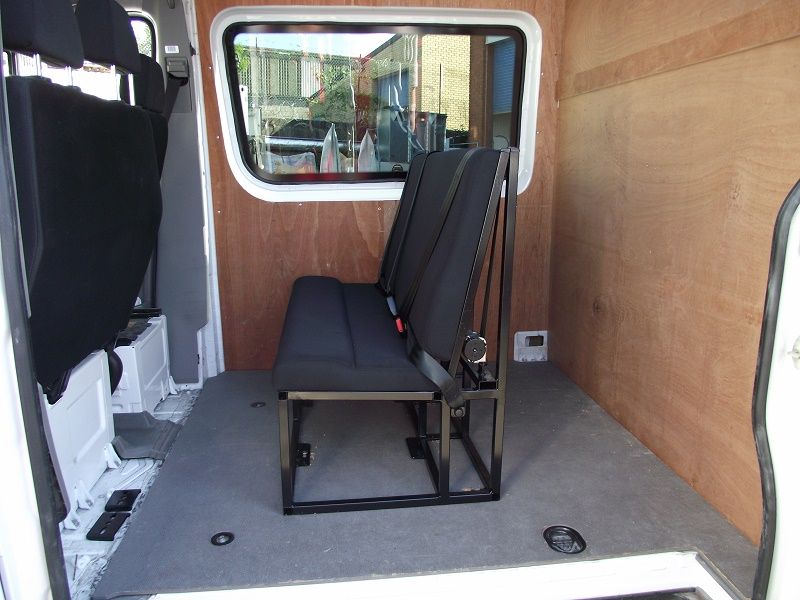 Flooring, seats, ply lining, bulkhead and window fitted to