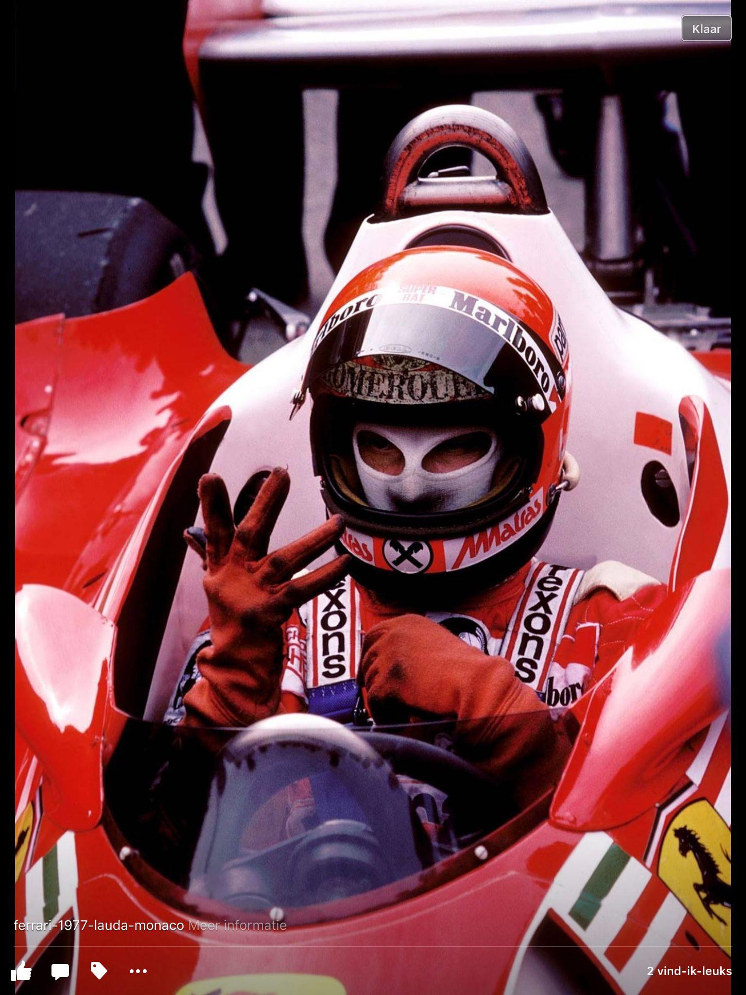 1977 Monaco, Nicky Lauda in een Ferrari Formule 1
