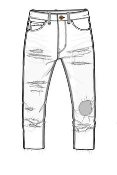 ripped jeans drawing google search illustrator flats in 2018 pinterest drawings fashion. Black Bedroom Furniture Sets. Home Design Ideas