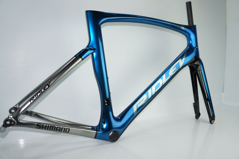 Noah Sl Disc Full Custom Candy Blue Over Chrome Ridley Bike Builder