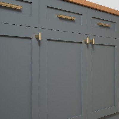 T Pull Natural Brass Kitchen Cabinet Pulls Kitchen Hardware Cabnits Kitchen