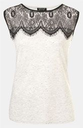 Lace Yoke Tank. I'd like to wear this but I wouldn't look right