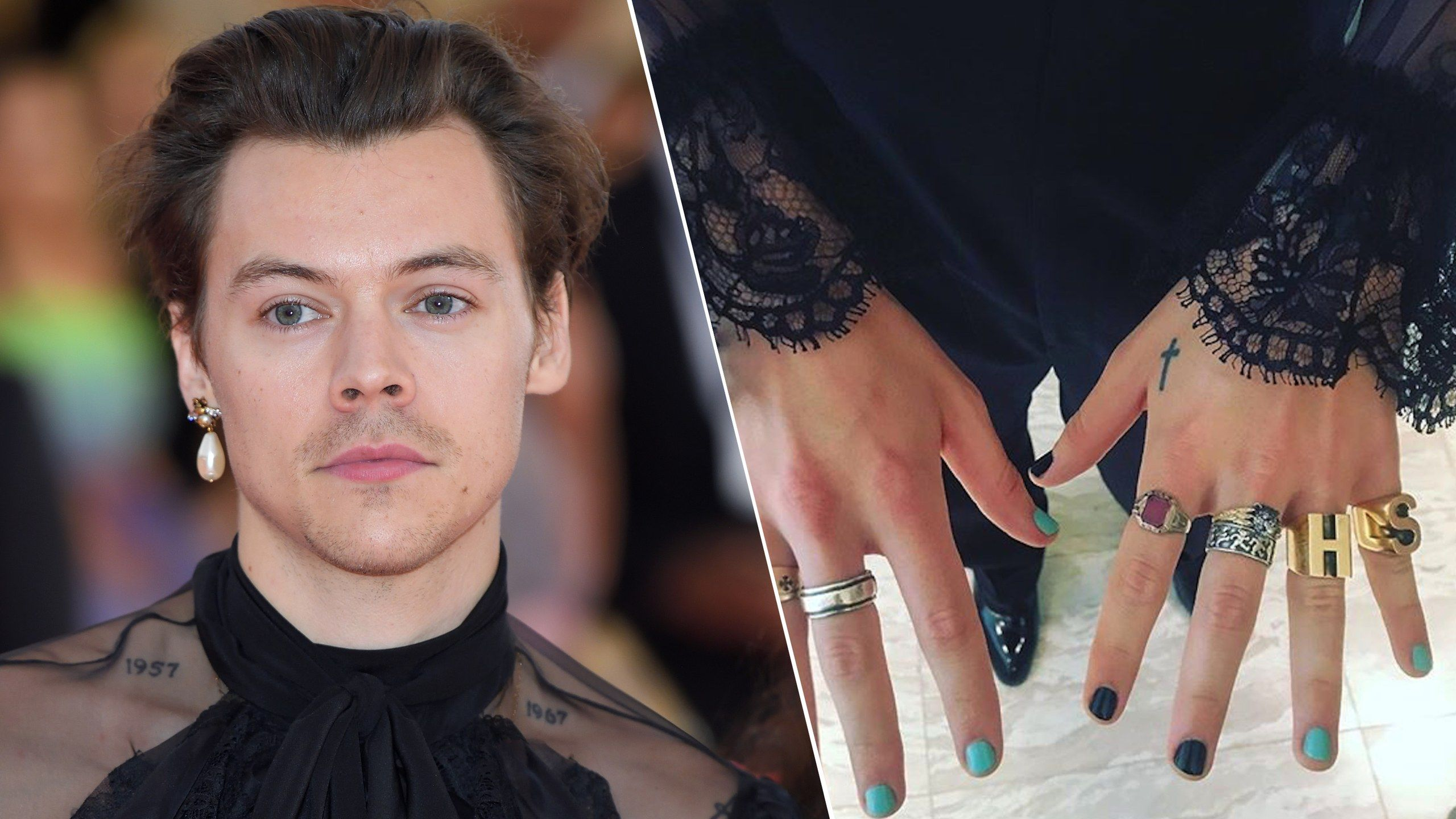 Harry Styles Nails In 2020 Fashion Nails Harry Styles Summer Manicure