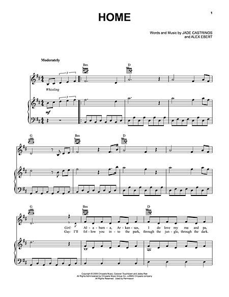 Home By Edward Sharpe The Magnetic Zeros Sheet Music Sheet