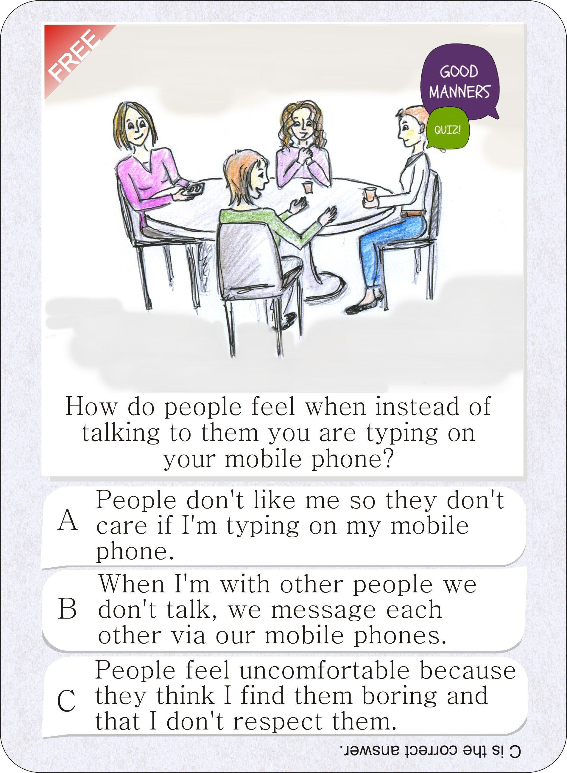 Look Free Etiquette Card Game I Have Found More On The