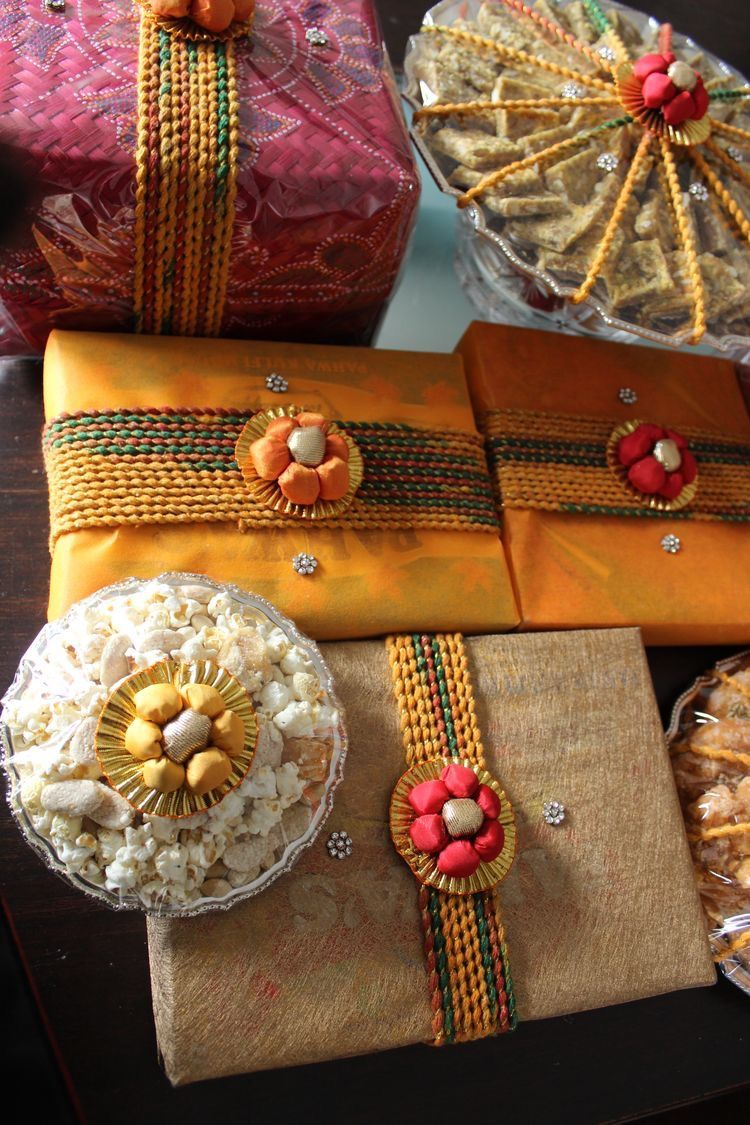 Wedding Gift Wrapping, Indian Wedding Gifts, Trousseau