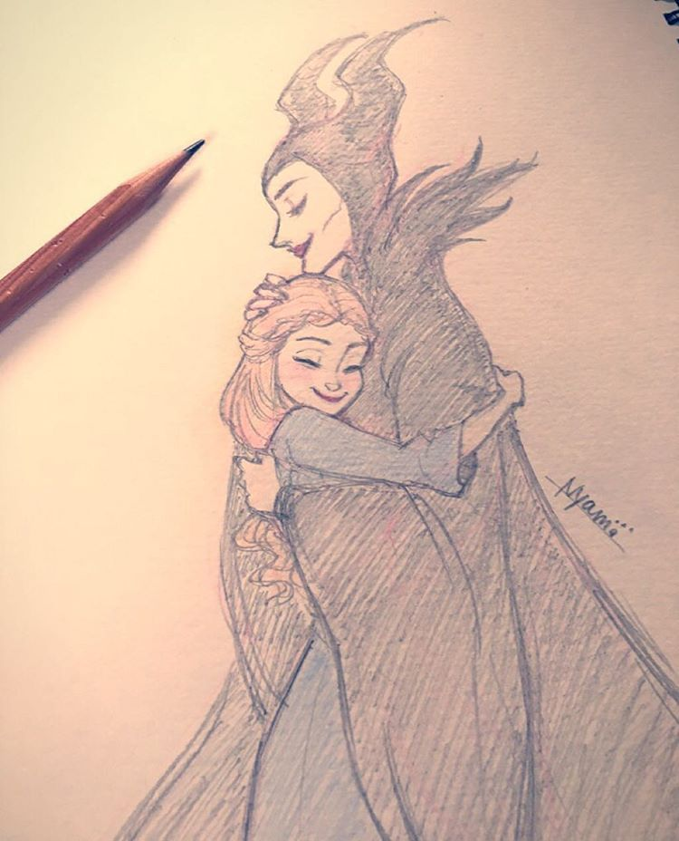 2015 11 24 Maleficent Aurora Disney Sketch Drawing