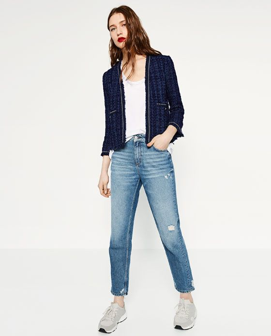 ZARA - WOMAN - KNIT JACKET  classic jacket